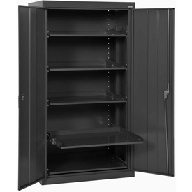Sandusky Pull-Out Tray Shelf Storage Cabinet ET52362466 - 36x24x66, Black