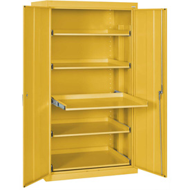 Sandusky Pull-Out Tray Shelf Storage Cabinet ET52362466 - 36x24x66, Yellow