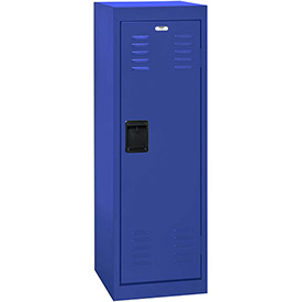 "Sandusky Welded Steel Color Lockers LF1B151548-06 - 15""W x 15""D x 48""H Blue"
