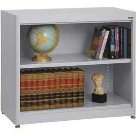 "Radius Edge Bookcase - Gray, 36""W x 18""D x 30""H"