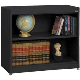 "Radius Edge Bookcase - Black, 36""W x 18""D x 30""H"