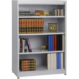 "Radius Edge Bookcase - Gray, 36""W x 18""D x 52""H"