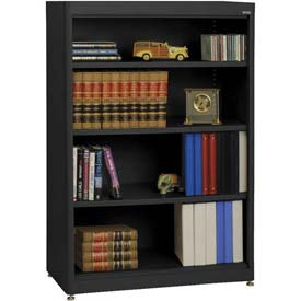 "Radius Edge Bookcase - Black, 36""W x 18""D x 52""H"