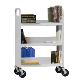 Sandusky® SFV336 Flat Top Shelf Steel Book Cart 37x18 - Dove Gray