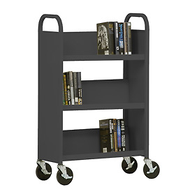 Sandusky® SL327 3-Shelf Single Sided Mobile Utility Truck 27x13 - Charcoal