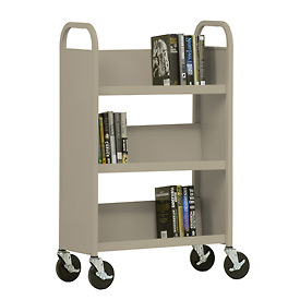 Sandusky® SL327 3-Shelf Single Sided Mobile Utility Truck 27x13 - Sand