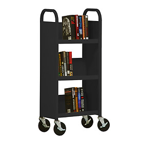 Sandusky® SL33017 3-Shelf Single Sided Mobile Utility Truck 17x13 - Black