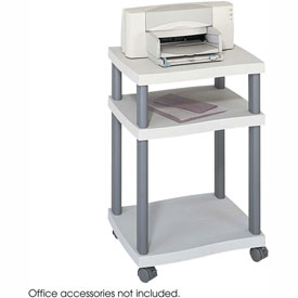 Safco® 1860GR Wave Desk Side Printer Stand