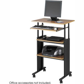 Safco® 1929MO Muv™ Stand-up Adjustable Height Workstation - Medium Oak