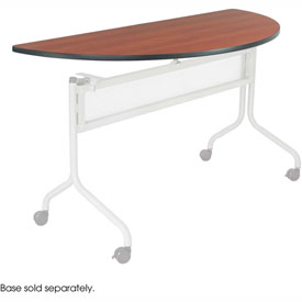 Mobile Training Half Round Table Top only (Base Sold Separately) 48 x 24 Cherry by