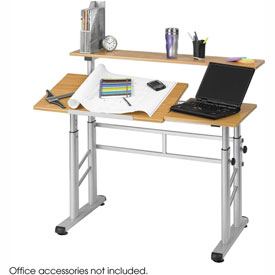 Height Adjustable Split Level Drafting Table by