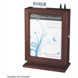 Customizable Wood Suggestion Box Mahogany