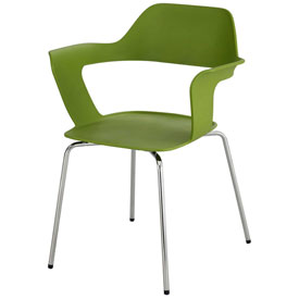 Safco® Bandi Stack Chair - Green - 2 Pack