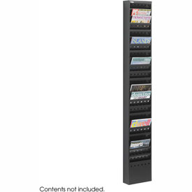 23 Pocket Steel Magazine Rack - Black