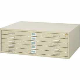 """5-Drawer Steel Flat File for 36"""" x 48"""" Documents, Tropic Sand"""