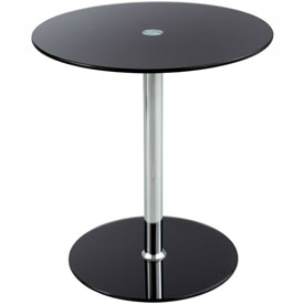Glass Accent Table - Black