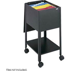 Safco® 5360 Economy Letter Sized Mobile Tub File - Black