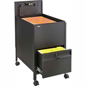 Safco® 5364 Drawer Based Letter Sized Mobile Tub File with Lock - Black