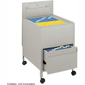 Safco® 5365 Drawer Based Legal Sized Mobile Tub File with Lock - Putty