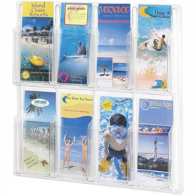 Clear 8 Pamphlet Display