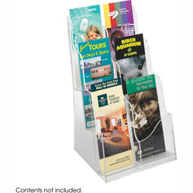 Acrylic 3 Pocket Magazine Display - Clear