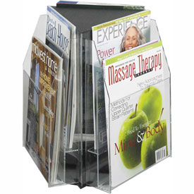 Clear 6 Magazine Tabletop Displays