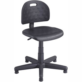Safco Soft Tough Economy Task Chair - Polyurethane - Black