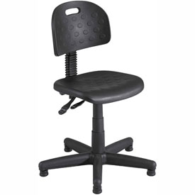 Safco Soft Tough Deluxe Task Chair - Polyurethane - Black