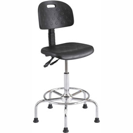 Safco WorkFit Deluxe Industrial Stool - Polyurethane - Black