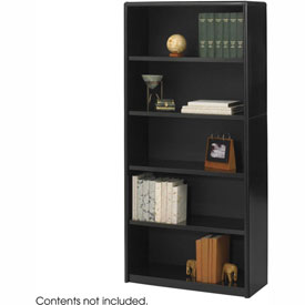 5-Shelf Economy Bookcase - Black