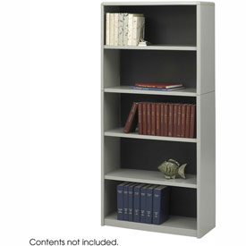 5-Shelf Economy Bookcase - Gray