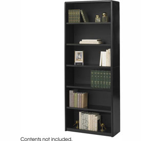 6-Shelf Economy Bookcase - Black
