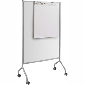 "Safco® Impromptu® Full Whiteboard Screen, 42""W x 72""H, Gray"