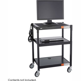 Safco® Steel Adjustable Height AV Cart