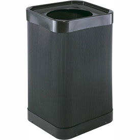 At-Your-Disposal® 9790BL Square Poly Trash Receptacle - 38 Gallon