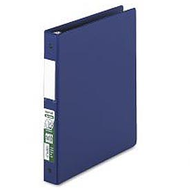 "Antimicrobial Locking Round Ring Binder For 11 X 8-1/2, 1"" Cap., Dark Blue"