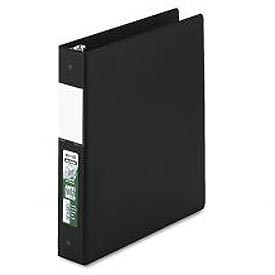 "Antimicrobial Locking Round Ring Binder For 11 X 8-1/2, 1-1/2"" Cap., Black"