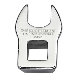 """Craftsman Industrial 9-2492 7/16"""" Crowfoot Wrench, Inch 3/8"""" Drive by"""
