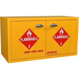 """36 Gallon, Mobile ADA Flammable Cabinet, 34""""W x 22""""D x 26-1/2""""H"""