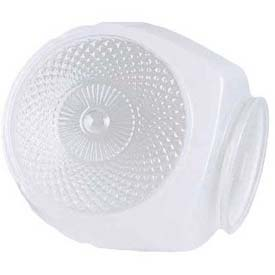 Satco 50-111 White Globe with Clear Bottom Bath Shade by