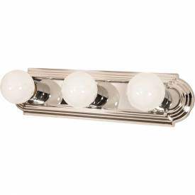 """Satco 60-296 3 Light 18"""" Vanity Racetrack Style Polished Chrome by"""