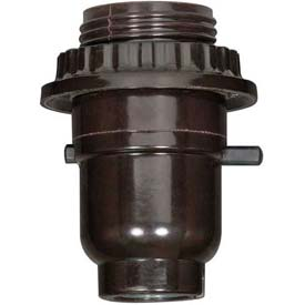 Satco 80-1071 Medium Base Socket Push Thru by