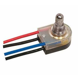 Satco 80-1360 On-Off Lighted Rotary Switch  Nickel Finish