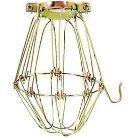 Satco 90-1310 Light Bulb Cage - Brass Finish