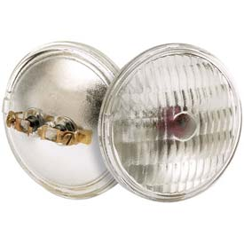 Satco S4330 H7555 Emergency Bldg Halogen 8w Sealed Beam W/ Screw Terminal Base Bulb - Pkg Qty 12