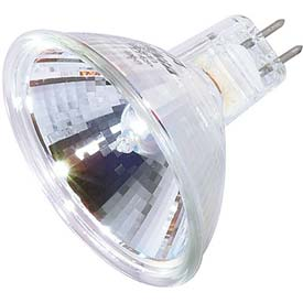 Satco S4365 35mr16/Fl/C 35w Halogen W/ Minature 2 Pin Round Base Bulb - Pkg Qty 12