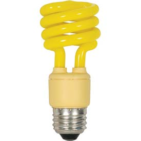 Satco S7267 13t2/Bug Yellow 13w W/ Medium Base- Cfl Bulb - Pkg Qty 12