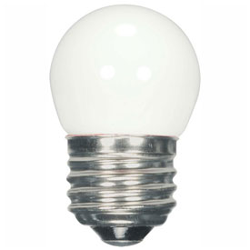 Satco S9161 1.2W LED S11 Night Light Bulb Medium Base White 2700K