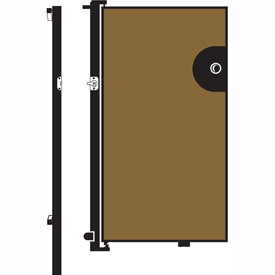 Screenflex 4'H Door - Mounted to End of Room Divider - Vinyl-Sandalwood