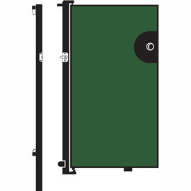 Screenflex 6'H Door - Mounted to End of Room Divider - Mallard